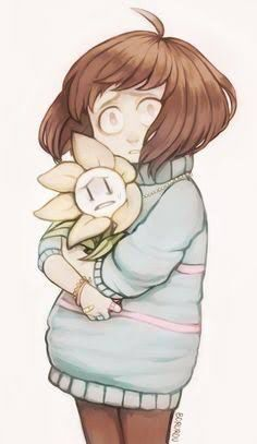 Underpatch!Frisk and Underpatch!Flowey