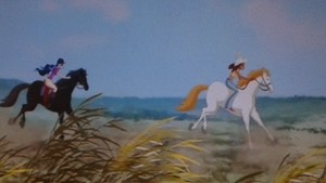 Urie and Cabiria racing