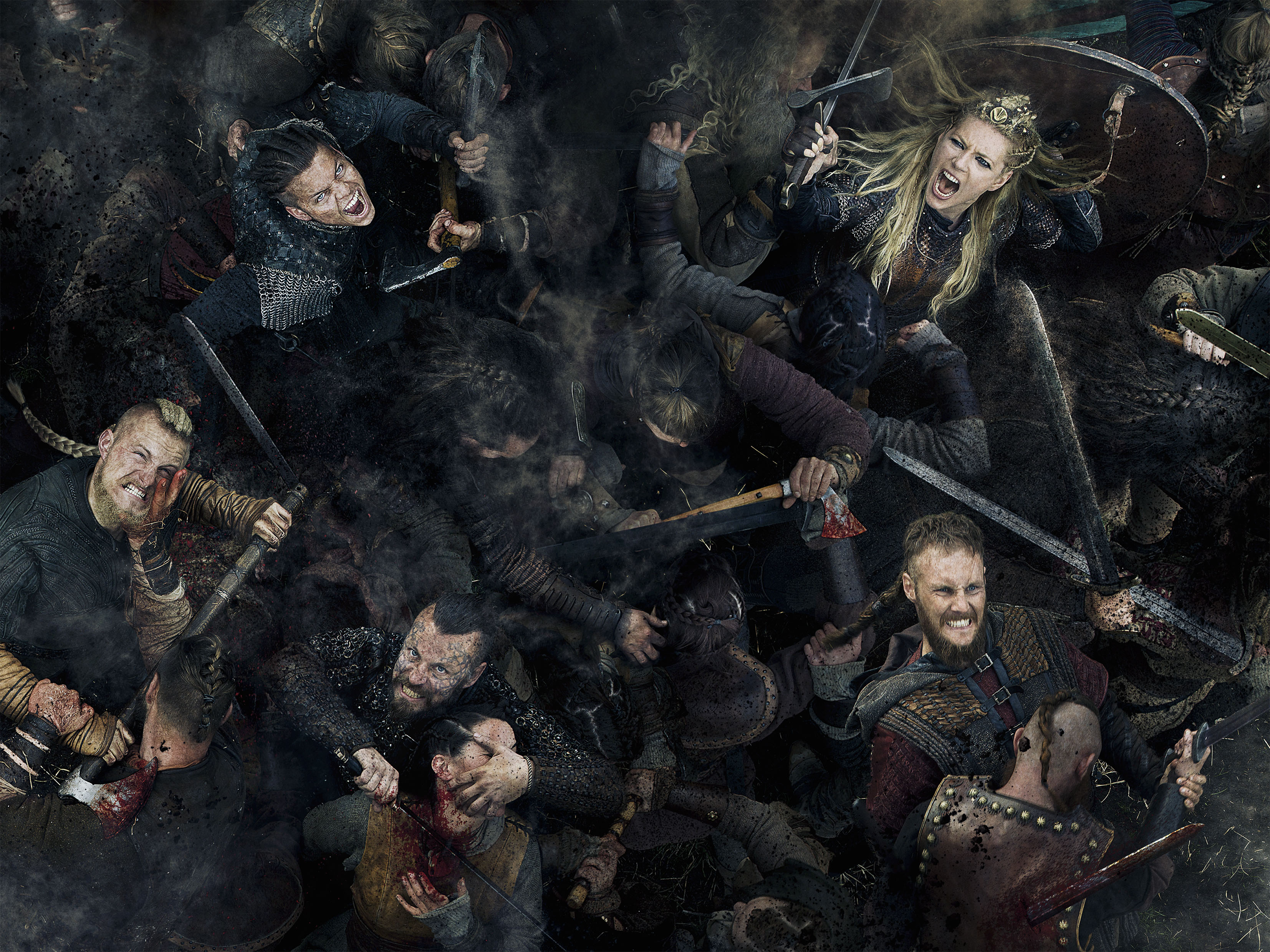 Vikings - Ivar, Bjorn, Lagertha, Harald and Ubbe Season 5 Official Picture