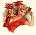 Vintage Christmas Pin Up Girl - pin-up-girls photo