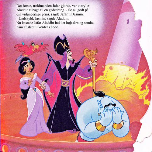 Walt Disney Characters achtergrond called Walt Disney Book Scans – Aladdin: The Genie's Story (Danish Version)