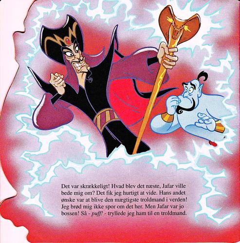 Walt Disney Characters karatasi la kupamba ukuta called Walt Disney Book Scans – Aladdin: The Genie's Story (Danish Version)