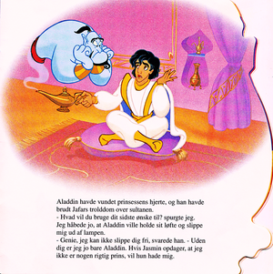 Walt 迪士尼 Book Scans – Aladdin: The Genie's Story (Danish Version)
