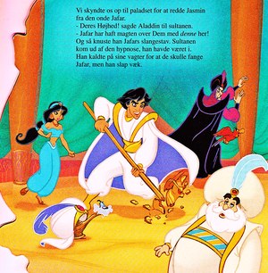 Walt 디즈니 Book Scans – Aladdin: The Genie's Story (Danish Version)