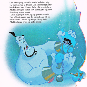 Walt ディズニー Book Scans – Aladdin: The Genie's Story (Danish Version)