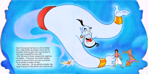 Walt Дисней Book Scans – Aladdin: The Genie's Story (Danish Version)