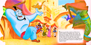 Walt 迪士尼 Book Scans – Aladdin: The Genie's Story (Danish Version)