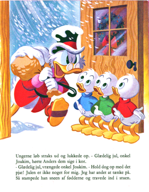 Walt Дисней Book Scans – Uncle Scrooge's Рождество Eve (Danish Version)