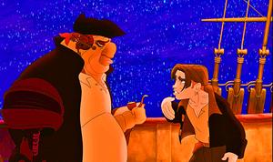 Walt Дисней Screencaps – John Silver & Jim Hawkins