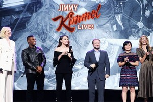 cast of TLJ on Jimmy Kimmel