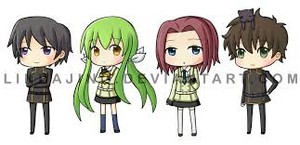 chibi lelouch and friends
