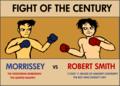 morrissey vs  robert smith by greasealease - the-cure fan art