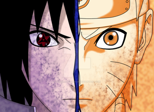 naruto vs  sasuke  re drawn  by uchihaavenger666 d6l3joa