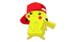 pikakcu with a ash hat