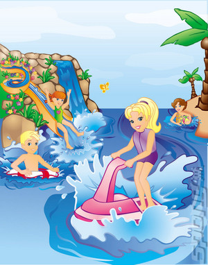 polly pocket super splash island gba artwork