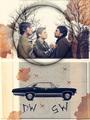 sam, Dean and John - supernatural fan art