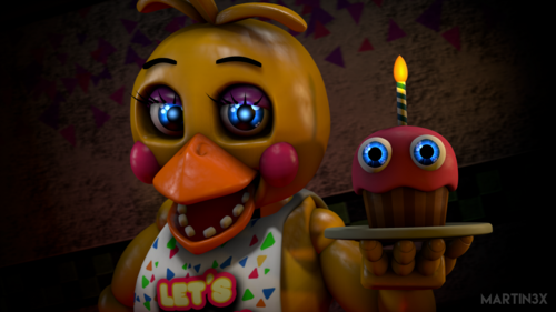 Five Nights at Freddy's wallpaper titled toy chica 4 by martin3x dadqsrf