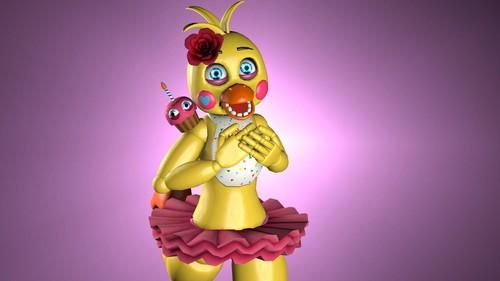 Five Nights at Freddy's wallpaper called toy chica  my bio   sfm  by redfazoco02 dbhdsvg