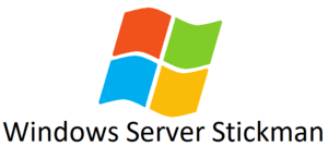 windows server stickman logo
