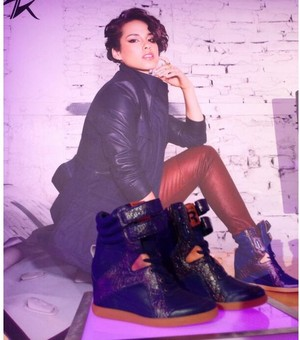 Alicia Keys Designer Wedge Sneakers