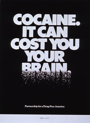 """Cocaine It Can Cost bạn Your Brain"" ad (1987)"