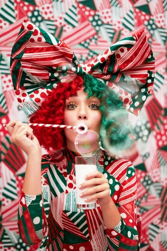 """Sia fond d'écran called """"Everyday is christmas"""" promo pics"""