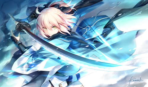 Fate Series 바탕화면 called Souji Okita (Sakura Saber)