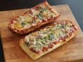 20130305 french bread pizza pizza lab 23 - pizza photo