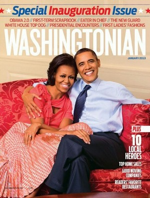 Barack And Michelle On Cover Of Washingtonian