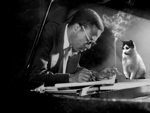 A Composer And His Cat