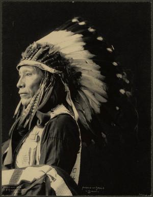 Afraid of Eagle (Sioux) Photograph par F. A. Rinehart