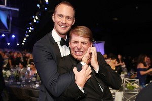 Alexander Skarsgård and Jack McBrayer at SAG Awards 2018