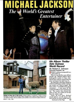 artikel On World's Biggest Superstar MJ
