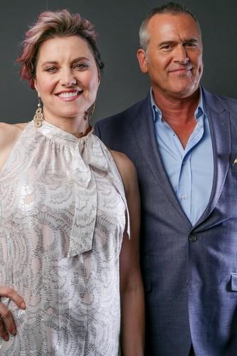 Ash vs Evil Dead achtergrond called Ash Vs Evil Dead Season 2 Lucy Lawless and Bruce Campbell Portrait