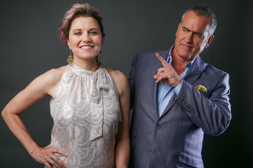 Ash vs Evil Dead achtergrond called Ash Vs Evil Dead Season 2 Lucy Lawless and Bruce Campbell Portrait