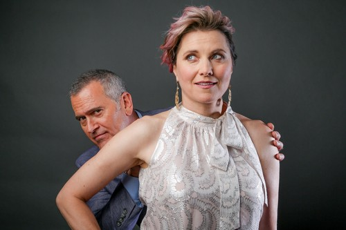 Ash vs Evil Dead achtergrond titled Ash Vs Evil Dead Season 2 Lucy Lawless and Bruce Campbell Portrait