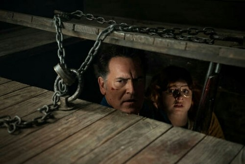 "Ash vs Evil Dead achtergrond called Ash Vs Evil Dead ""Second Coming"" (2x10) promotional picture"