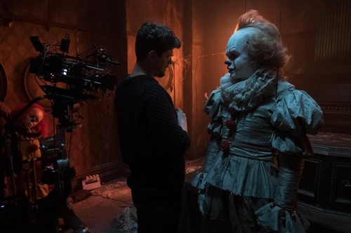 Horror فلمیں پیپر وال called Behind the Scenes from IT (2017)
