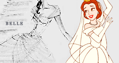 Belle Wedding Dress design