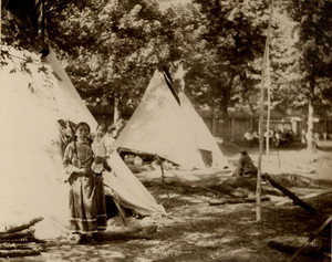 Blackfoot woman and Child 1898 Photograph by F. A. Rinehart