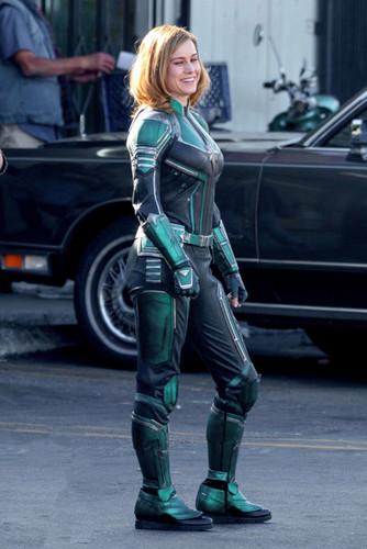 Marvel's Captain Marvel achtergrond called Brie Larson - Captain Marvel BTS