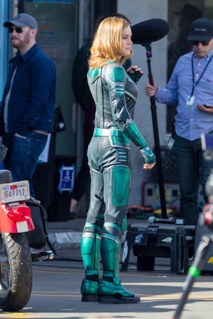 Brie Larson - Captain Marvel BTS