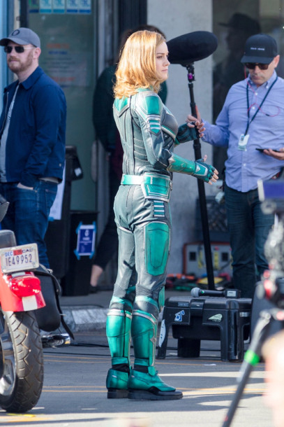 Brie Larson - Captain Marvel BTS