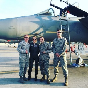 Brie Larson at Nellis Air Force Base