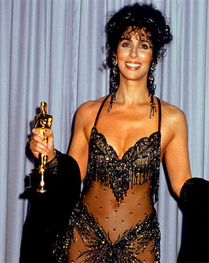 Cher Backstage At The 1988 Academy Awards