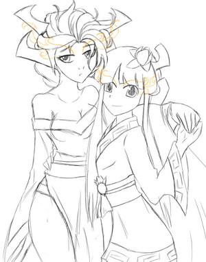 Chi and Akuma :D:D:D