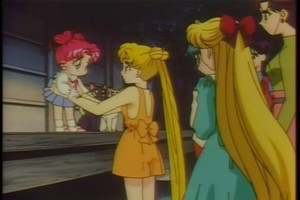 Chibiusa Usagi Ami Rei Minako and Makoto
