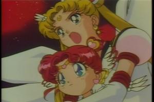 Chibiusa and Sailor Moon