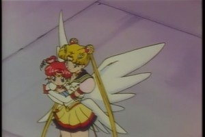 Chibiusa and Sailor Scouts
