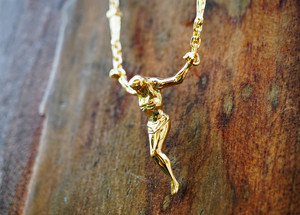 Christ Crucifix kruis Necklace, Crucifix Necklace, Christ on the kruis halsketting, ketting